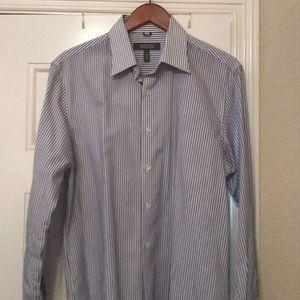 Mens LS pinstripe dress shirt